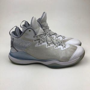 Jordan Shoes - NIKE AIR JORDAN SUPER FLY White silver-gray